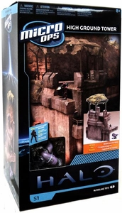 Halo McFarlane Micro Ops Series 1 Box Set High Ground Tower [Includes Master Chief, Ghost & Elite Special Ops]