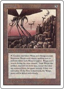 Magic the Gathering Unlimited Edition Single Card Rare The Hive Played Condition Not Mint