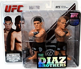 Round 5 UFC Ultimate Collector Series 9 LIMITED EDITION Action Figure 2-Pack Diaz Brothers [Nate & Nick] Only 750 Made!