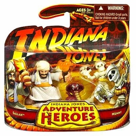 Indiana Jones Adventure Heroes Wave 1 Mini Figure 2-Pack Sallah & Mummy