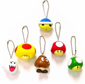 Super Mario Brothers BanPresto Foam Keychain Set of 6