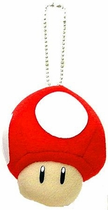 Super Mario Brothers BanPresto Plush Mini Plush Keychain Super Mushroom