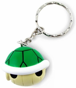Super Mario Kart Wii Volume 2 Soft PVC Keychain Green Turtle Shell