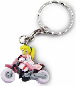 Super Mario Kart Wii Volume 2 Keychain Princess Peach [Motorcycle]