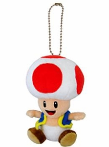 New Super Mario Bros. San-Ei 5 Inch Plush Keychain Toad