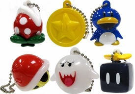 New Super Mario Wii Set of all 6 Light Up Collection 2 Keychains