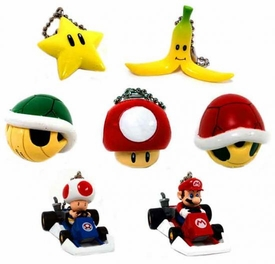 Super Mario Kart DS Set of 7 Micro Keychains