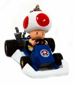 Super Mario Kart DS Micro Keychain Toad in Go-Kart