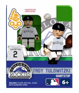 OYO Baseball MLB Building Brick Minifigure Troy Tulowitzki [Colorado Rockies]