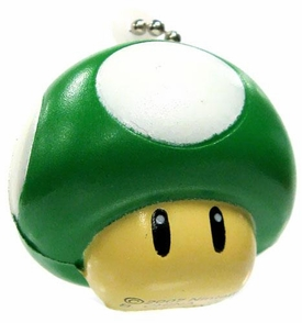 Super Mario Galaxy 2 Mini Foam Figure Keychain 1-Up Mushroom