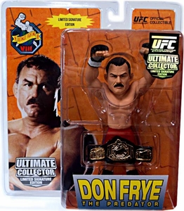 Round 5 UFC Ultimate Collector Series 9 LIMITED SIGNATURE EDITION Action Figure Don Frye [Includes Championship Belt!] Only 750 Made! Signed by Frye!