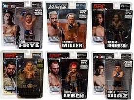 Round 5 UFC Ultimate Collector Series 9 Set of 6 Action Figures [Jason Miller, Ben Henderson, Don Frye, Chris Leben, Nick Diaz {PRIDE} & Cain Velasquez]