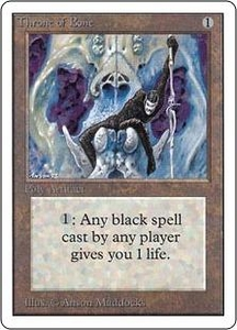 Magic the Gathering Unlimited Edition Single Card Uncommon Throne of Bone