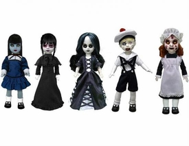 Mezco Toyz Living Dead Dolls Series 25 Set of 5 Figures [Luna, Sospirare, Asa, Cracked Jack & Gretchen]