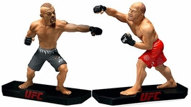 Round 5 UFC Live Series Set of Both 10 Inch Statue Figures [Randy Couture & Chuck Liddell]