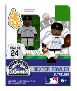 OYO Baseball MLB Building Brick Minifigure Dexter Fowler [Colorado Rockies]