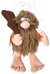 Hanna Barbera 10 Inch Deluxe Plush Figure with Sound Captain Caveman