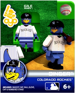OYO Baseball MLB Building Brick Minifigure Dinger [Colorado Rockies]