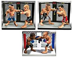Round 5 UFC Versus Series 1 LIMITED & SPECIAL EDITION Set of 3 Action Figure 2-Packs [Liddell Vs. Ortiz, Lesnar Vs. Mir & R. Jackson Vs. W. Silva] Only 1,500 Sets Exist!