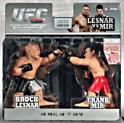 Round 5 UFC Versus Series 1 LIMITED EDITION Action Figure 2-Pack Brock Lesnar Vs. Frank Mir [UFC 100] Only 1,500 Made!