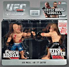 Round 5 UFC Versus Series 1 LIMITED EDITION Action Figure 2-Pack Chuck Liddell Vs. Tito Ortiz [UFC 47] BLOWOUT SALE! Only 1,500 Made!