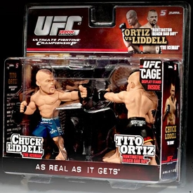 Round 5 UFC Versus Series 1 Action Figure 2-Pack Chuck Liddell Vs. Tito Ortiz [UFC 47] BLOWOUT SALE!