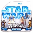 Star Wars Galactic Heroes Mini Figure 2-Pack R2-D2 with Serving Tray & Princess Leia Jabba's Slave