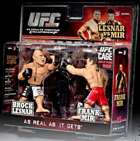 Round 5 UFC Versus Series 1 Action Figure 2-Pack Brock Lesnar Vs. Frank Mir [UFC 100] BLOWOUT SALE!