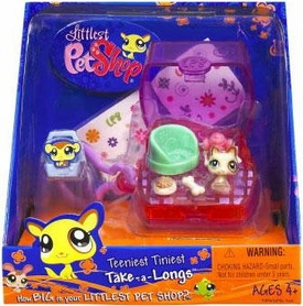 Littlest Pet Shop Teeniest Tiniest Take-A-Longs Mini Figure Dog