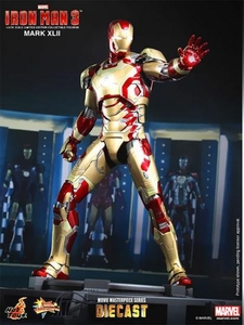 Iron Man 3 Hot Toys 1/6 Scale Collectible Diecast Figure Iron Man Mark XLII Pre-Order ships April