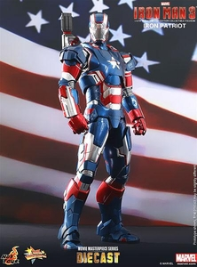 Iron Man 3 Hot Toys 1/6 Scale Collectible Diecast Figure Iron Patriot Pre-Order ships April