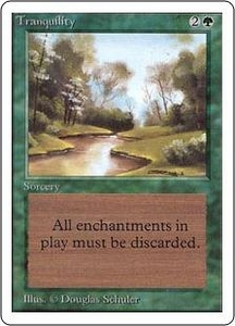 Magic the Gathering Unlimited Edition Single Card Common Tranquility Slightly Played Condition