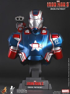 Iron Man 3 Hot Toys Movie 1/4 Scale Bust Iron Patriot
