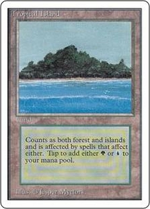 Magic the Gathering Unlimited Edition Single Card Rare Tropical Island