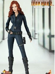 Iron Man 2 Hot Toys Movie Masterpiece Limited Edition 1/6 Scale Collectible Figure Black Widow Displayed