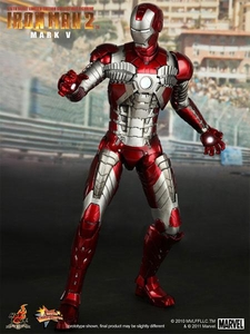 Iron Man 2 Hot Toys Movie 1/6 Scale Collectible Figure Iron Man Mark V