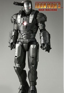 Iron Man 2 Hot Toys Movie 1/6 Scale Collectible Figure War Machine [Dark Grey Version]