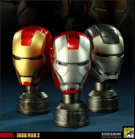 Sideshow Collectibles SDCC 2011 Exclusive Iron Man 2 Helmet Set