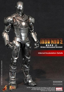 Iron Man 2 Hot Toys Movie 1/6 Scale Limited Edition Collectible Figure Iron Man Mark II [Armor Unleashed]