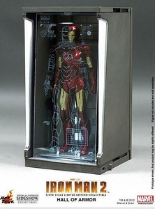 Iron Man Hot Toys Movie 1/6 Scale Collectible Hall of Armor Single Bay