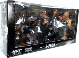 Round 5 UFC Versus Exclusive Action Figure 3-Pack Quinton Jackson Vs. Wanderlei Silva with Bruce Buffer [Red Tie]