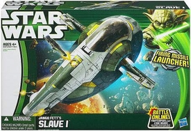 Star Wars 2013 Class II Attack Vehicle Jango Fett's Slave 1 [Attack of the Clones] New!