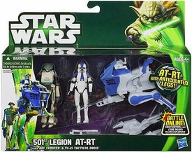 Star Wars 2013 Class I Vehicle 501st Legion AT-RT with ARF Trooper & TX-21 Tactical Droid [Clone Wars]