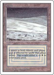 Magic the Gathering Unlimited Edition Single Card Rare Tundra