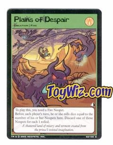 Neopets Trading Card Game Lost Desert Single Card Uncommon 62/100 Plains of Despair