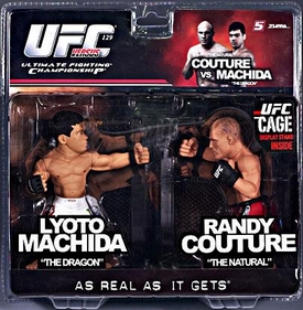 Round 5 UFC Versus Series 2 LIMITED EDITION Action Figure 2-Pack Lyoto Machida Vs. Randy Couture [UFC 129] Only 1,250 Made!