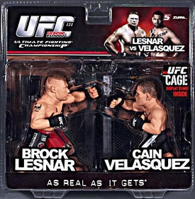 Round 5 UFC Versus Series 2 LIMITED EDITION Action Figure 2-Pack Brock Lesnar Vs. Cain Velasquez [UFC 121] Only 1,250 Made!