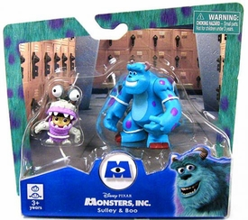 Disney Monsters Inc. 2 Inch Mini Figure 2-Pack Sully & Monster Disguise Boo