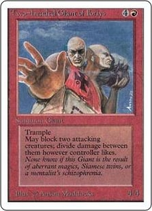 Magic the Gathering Unlimited Edition Single Card Rare Two-Headed Giant of Foriys
