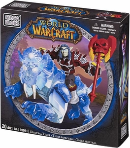 World of Warcraft Mega Bloks Set #91041 Spectral Tiger & Serperon [Alliance Night Elf Death Knight]